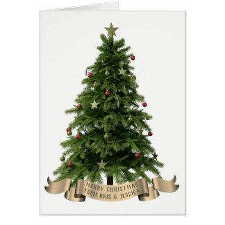 Custom Merry Christmas Tree Greeting Card