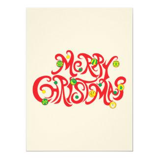 Custom Merry Christmas with Christmas Balls 17 Cm X 22 Cm Invitation Card