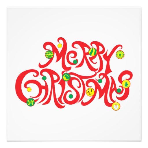 Custom Merry Christmas with Christmas Balls Cards Photographic Print
