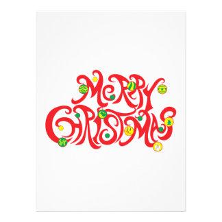 Custom Merry Christmas with Christmas Balls Custom Invites