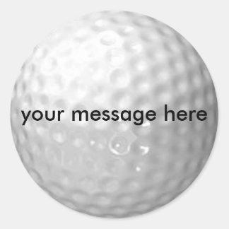 Custom Message Golf Ball Stickers