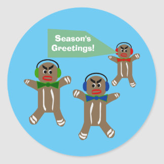 Custom Message - Holiday Gingerbread Stickers