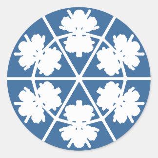 Custom message winter snowflake sticker