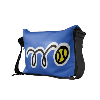 Custom messenger bag for tennis players