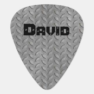 Custom Metal Tread Plate Look Guitar Pick