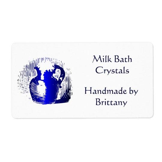 Custom Milk Jug Vintage Art Large Labels