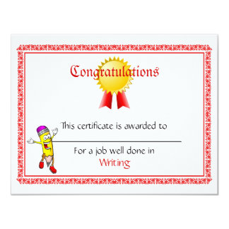 Custom Mini Award Certificates Card