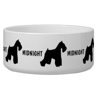 Custom Miniature Schnauzer Dog Bowl