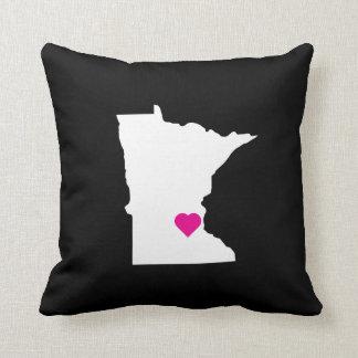 Custom Minnesota State Love Reversible Pillow