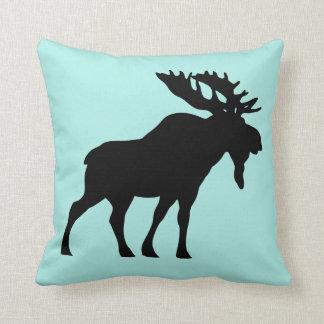 Custom Mint Moose Throw pillow