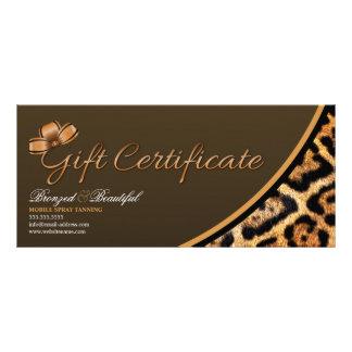 CUSTOM Mobile Spray Tanning Gift Certificate Full Colour Rack Card