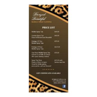 CUSTOM Mobile Spray Tanning Price List Rack Card Design