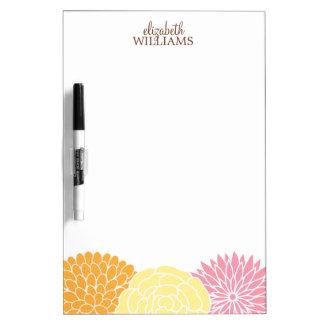 Custom Mod Florals Dry Erase Board