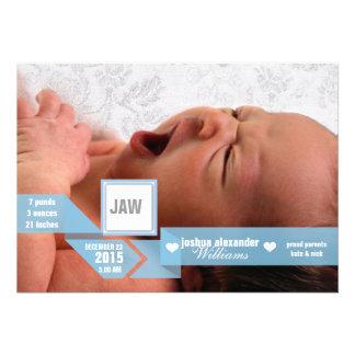 Custom mod ribbon baby birth announcement