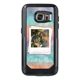 Custom Modern Batik Ombre Marbled Stripes Pattern OtterBox Samsung Galaxy S7 Case