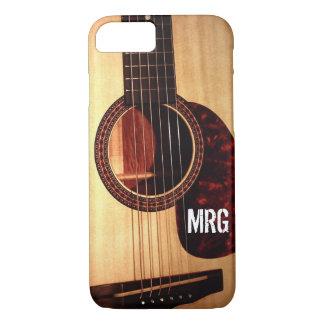 Custom Modern Classic Acoustic Guitar Musician iPhone 8/7 Case