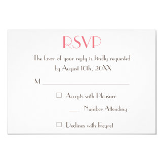 Custom Modern Elegant Wedding RSVP Invitation Card