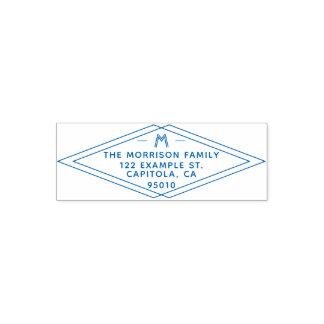 Custom Modern Geometric Family Name Return Address Self-inking Stamp