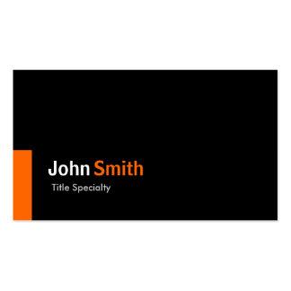 Custom Modern Simple Black and Sun Orange Pack Of Standard Business Cards