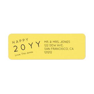 Custom Modern Yellow Holiday Return Address