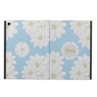 Custom Mom White Daisy Blue iPad Air Cover