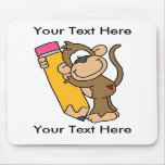 Custom Monkey Pencil Mousepad - Customisable