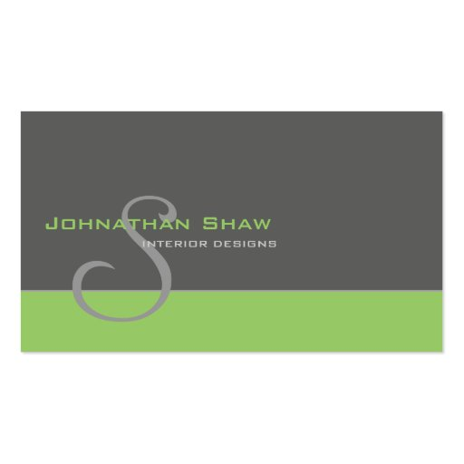 Custom Monogram 1 Pack Of Standard Business Cards