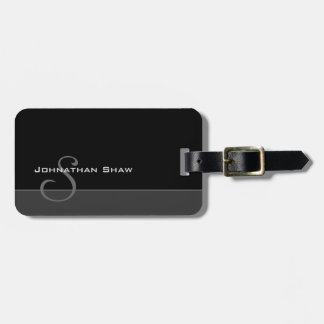 Custom Monogram 5 (Charcoal) Luggage Tag