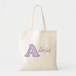 Custom Monogram A Name tote bag