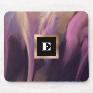 Custom Monogram Abstract Painting Mousepads