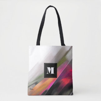 Custom Monogram Abstract Painting Tote Bags Tote Bag