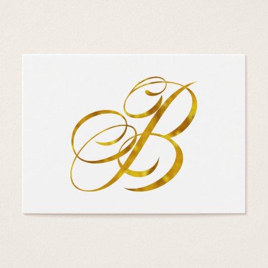 Custom Monogram B Faux Gold Foil Monograms Initial