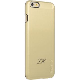 Custom Monogram Black Script Simple Monogrammed iPhone 6 Plus Case