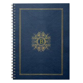 Custom Monogram Blue Moroccan Notebook