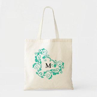 Custom Monogram Bride Tote Bag