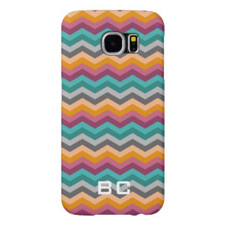Custom monogram chevron pattern Samsung S6 case