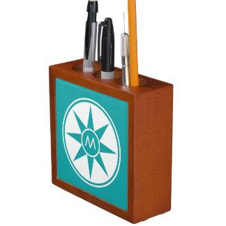 Custom monogram & color desk organizer