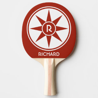Custom monogram & color ping pong paddle