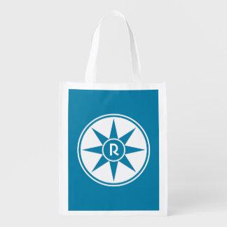 Custom monogram & color reusable bag