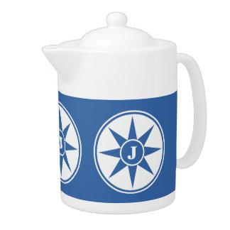 Custom monogram & color teapot