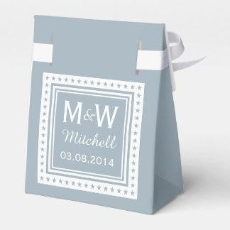 Custom monogram & color wedding favor boxes