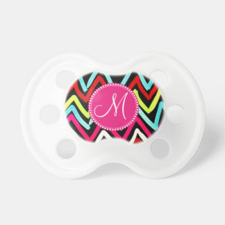 Custom Monogram Colorful Chevron Tribal Zigzags Dummy
