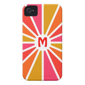 Custom Monogram Colorful Rays Case-Mate
