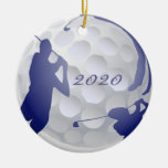 Custom Monogram Dated Golf Sport Hobby Round Ceramic Decoration