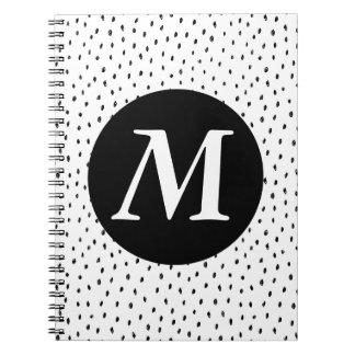 Custom Monogram Doodle Spot Notebook