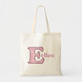 Custom Monogram E Name tote bag