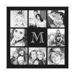 Custom Monogram Family Photo Collage Canvas Canvas Print
