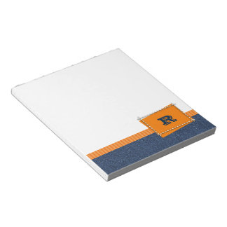 Custom Monogram Father's Day Gift Notepads