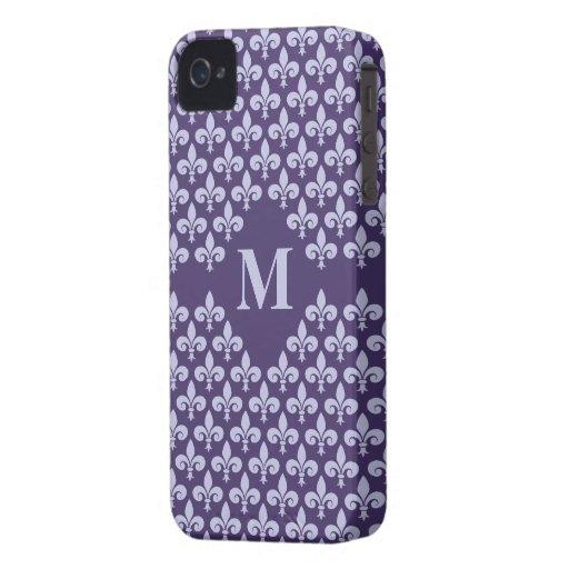 Custom Monogram Fleur-De-Lis iPhone 4 Case-Mate Case-Mate iPhone 4 Case