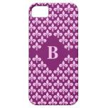 Custom Monogram Fleur-De-Lis iPhone Case-Mate iPhone 5 Cover